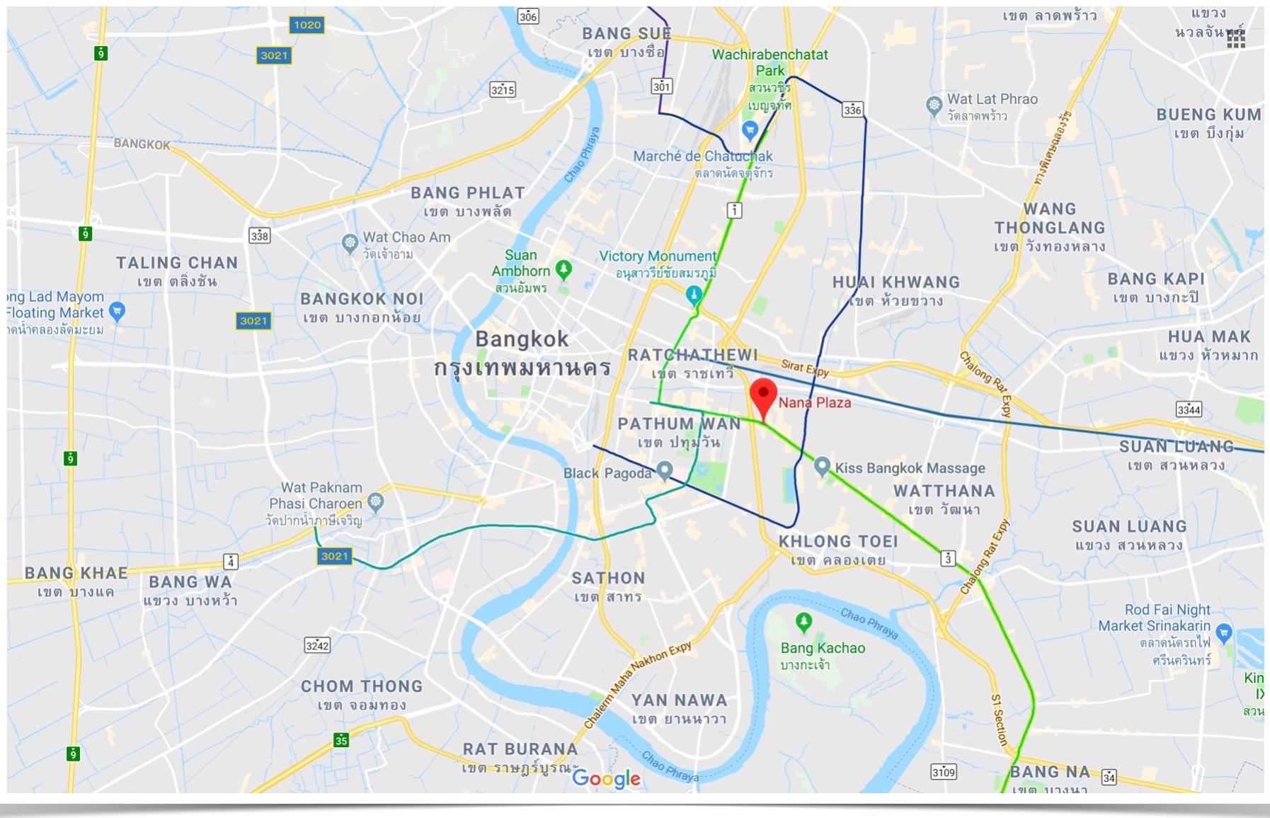 Bangkok Map BTO