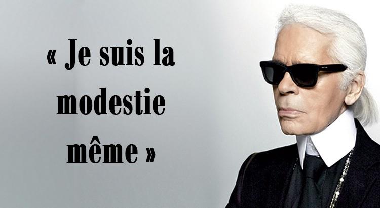 Les phrases cultes de Karl Lagerfeld / Cocasses et Chics